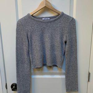 Zara grey cropped sweater